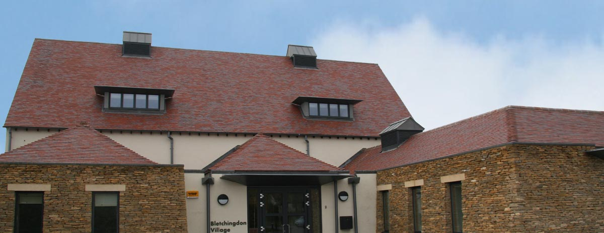 Bletchingdon School Red Blue commercial quality clay tiles