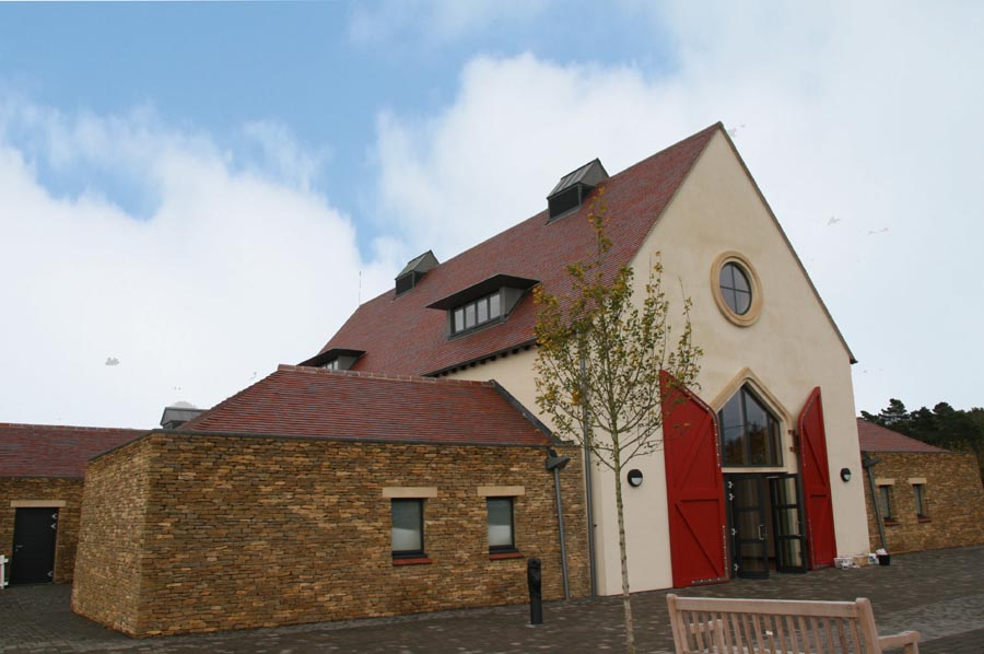 Bletchingdon School and Community Centre Red Blue Blend Tiles