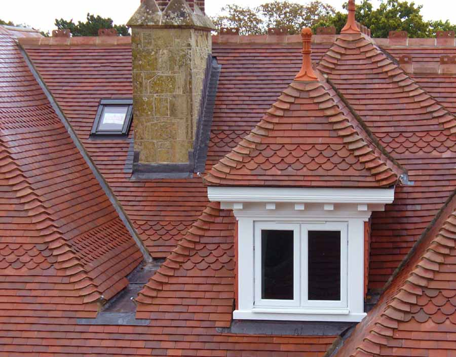 Staffordshire Blue Quarry Tiles Reclaimed Timber Roof