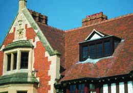 Brown Antique tiles were chosen for the reroofing ofthe BBC Training Centre Wood Norton