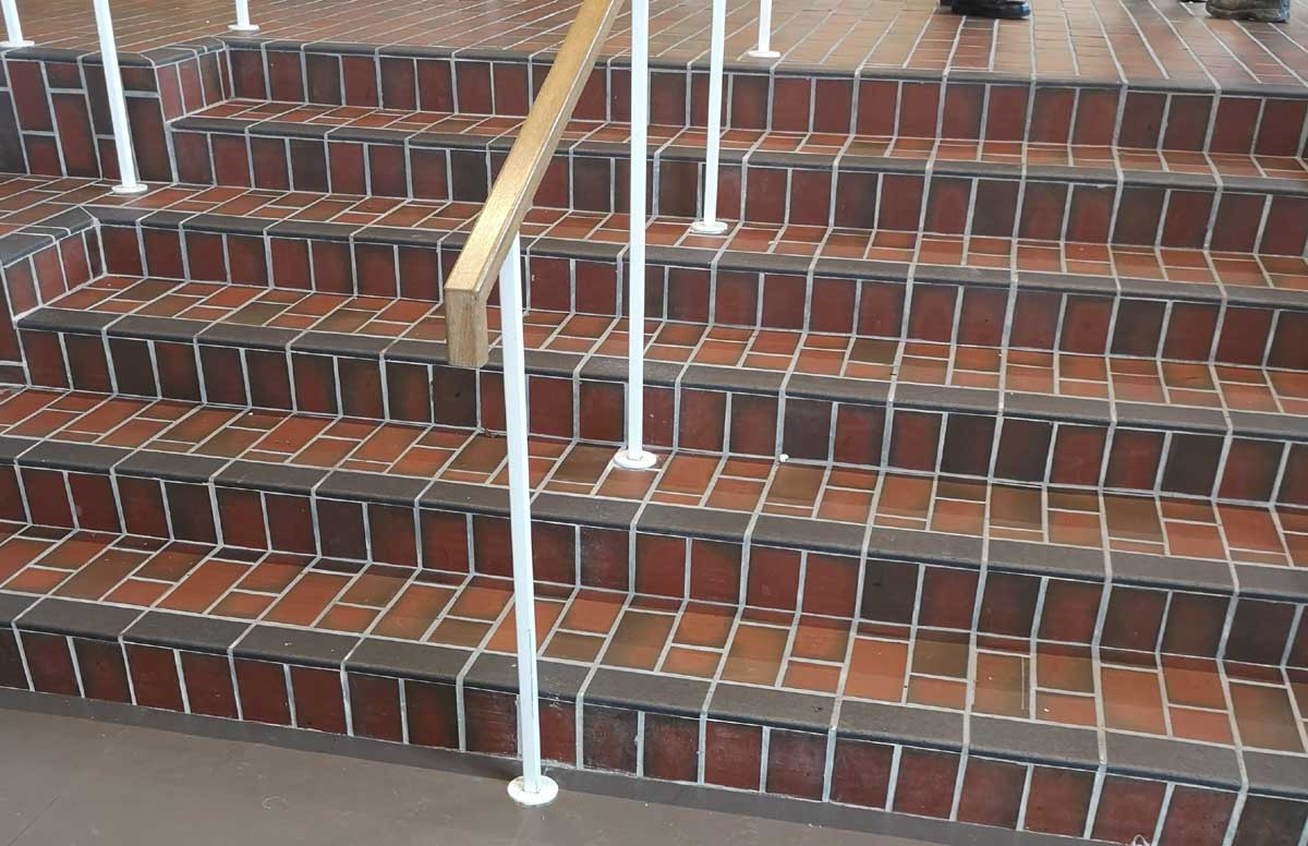 Ketley curved nosings on the steps at West Norwood Cinema in London