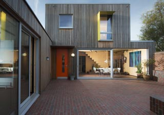 Passivhaus Hampshirewith quarry tiles inside and out