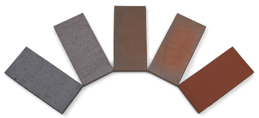 Rectangular Quarry tiles in 5 colours