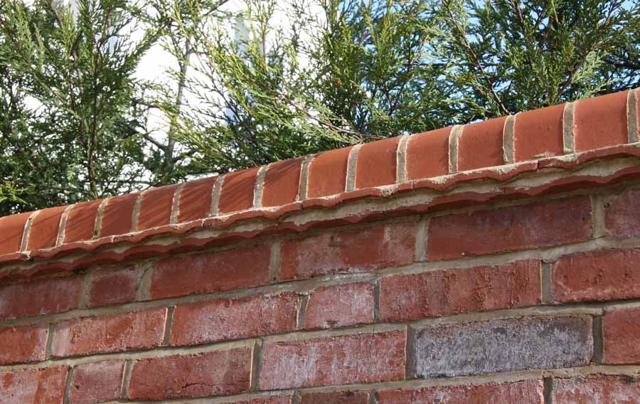 Plain tiles used as creasing tiles to add detail to wall