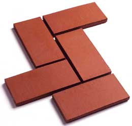 Quarry Tile landing red