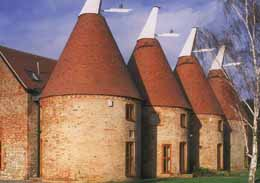 Re-roofing of Oast Houses in Country Brown smoothfaced