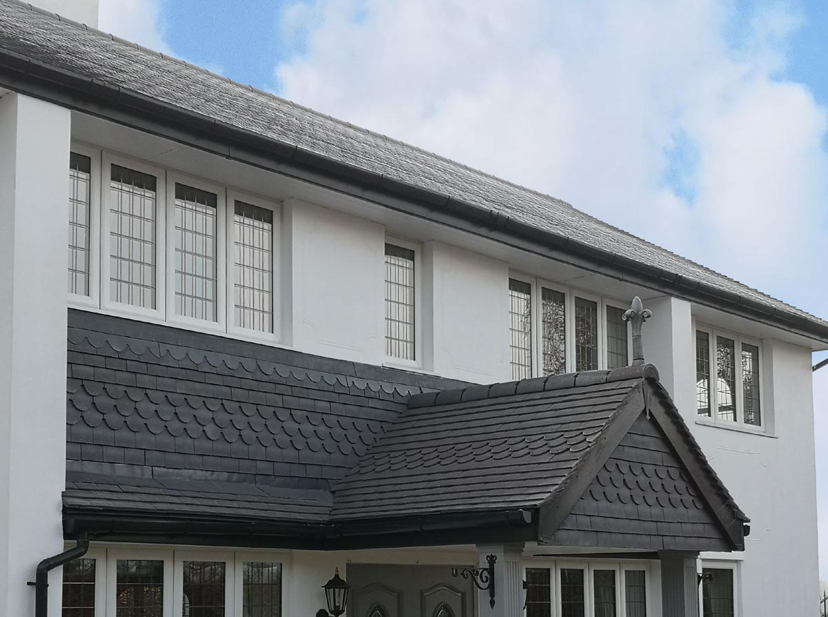 Rustic Staffordshire Blue Clay Roof Tiles