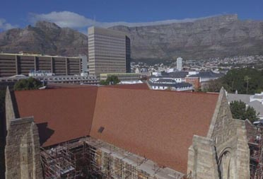 St Georges Cathedral reroof in Cape Town