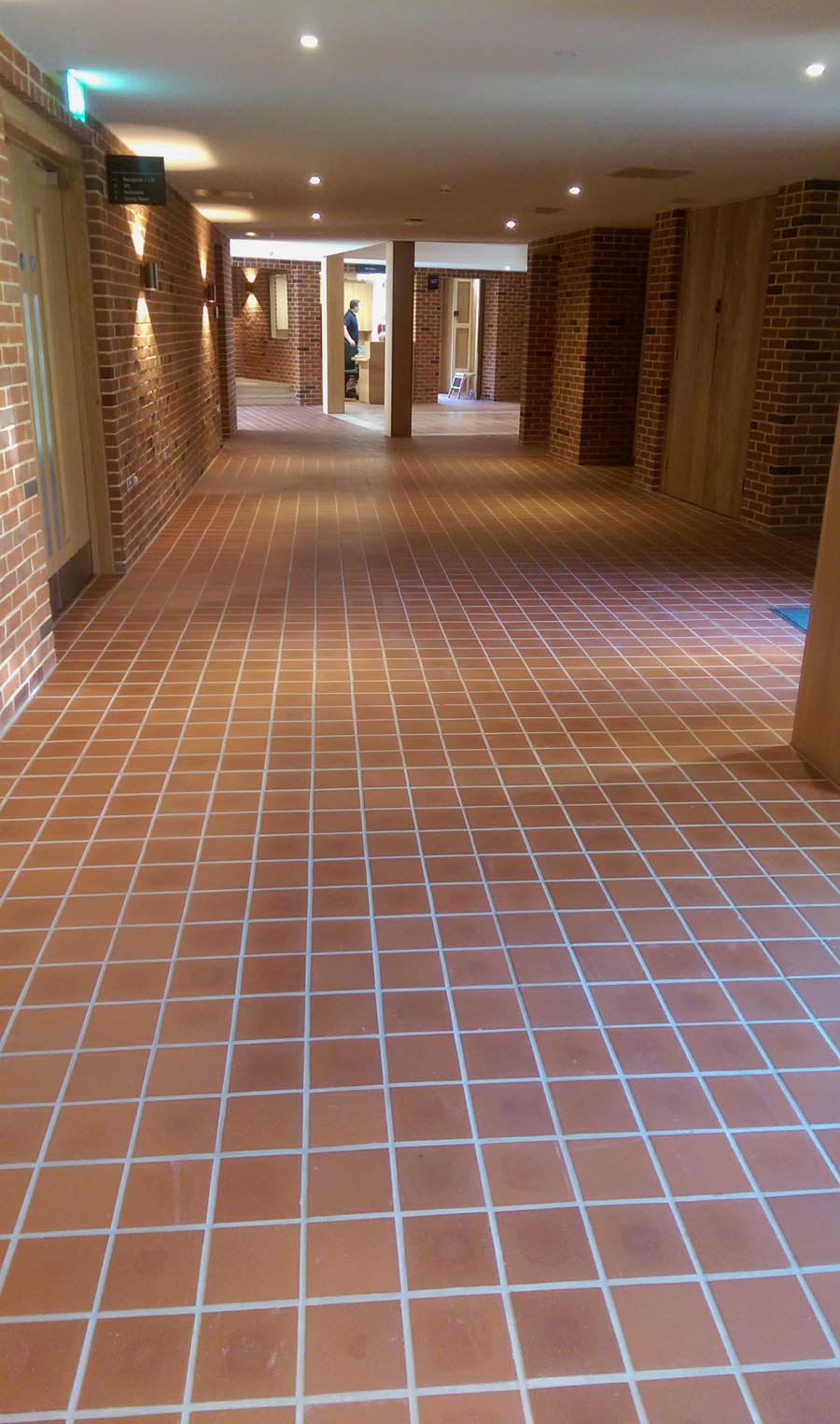 Staffs red quarry tiles at Jesus College Cambridge