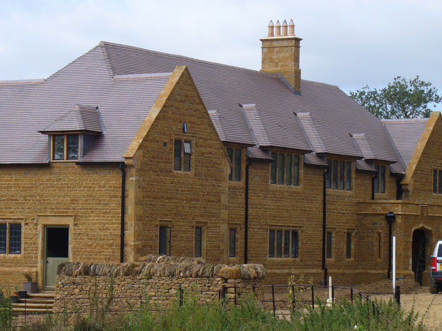 This impressive self build uses Blue Brindle as an alternative to slate