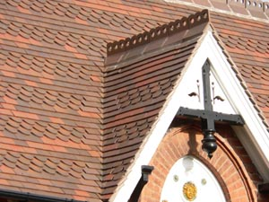 Reroof Of Victorian House With Dreadnought Clay Tiles