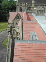 Country Brown rooftiles at Downside Abbey