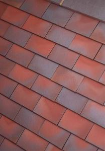 Dreadnought Redblue blend smoothfaced plain clay tiles