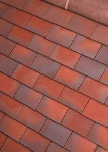 Redblue blend sandfaced plain clay tiles