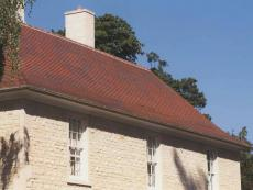 brown antique tiles were used for the reroof of Lechlade Manor in Gloucestershire