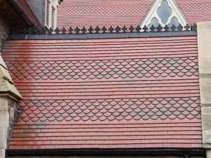 Brown Antique clay tiles at St James Church
