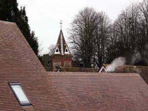 Brown Heather clay roof tiles at Micheldever School