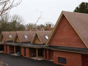 Brown Heather clay roof tiles at  Micheldever school in Hampshire