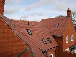 Dreadnought Red Blue Blend Plain Clay Roof Tiles