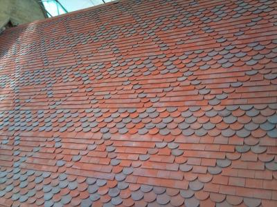 Red Blue Blend  clay tiles were used to reroof Nocton Church