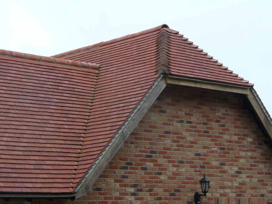 classic deep red Handmade Dreadnought roof tiles