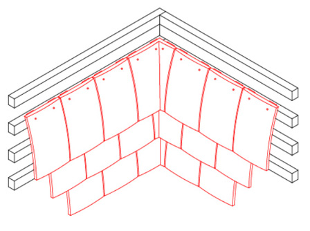 internal angle with angle tiles