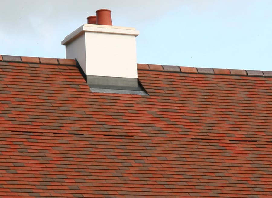 mechanically fixed ridge tiles